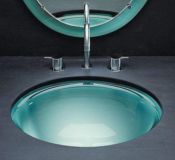 Vitraform Glass Basin. Vitraform Undermount Glass Sink: ...