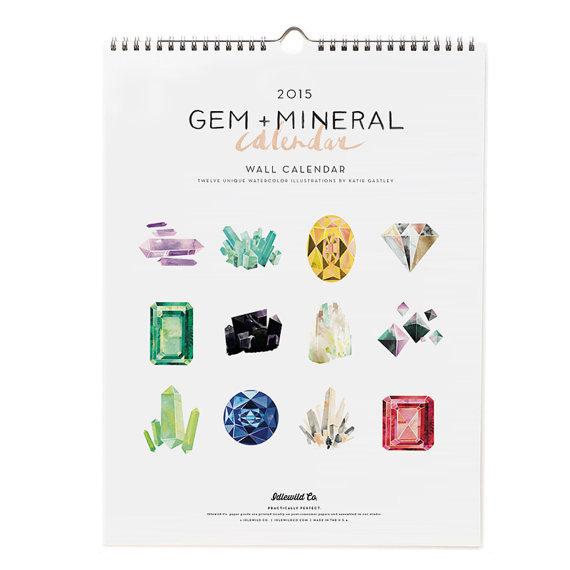 Gem and mineral calendar