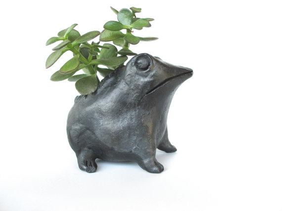 Froggie planter