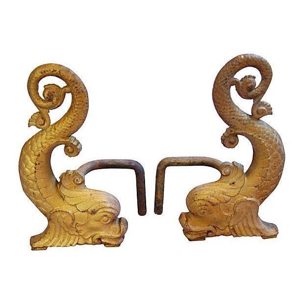 Antique andirons chairish